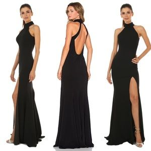Jay Godfrey Black Cameo Gown